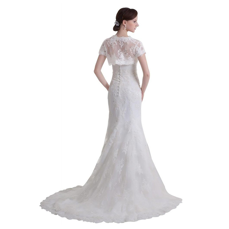 3e9c2a5e91d2 Anna Magnan Womens Strapless Lace Mermaid Wedding Dresses Blazer Jacket  Sexy Mermaid Bridal Wedding Party Dresses Gown-in Wedding Dresses from  Weddings ...