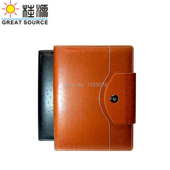 A5 Leather Notebook 2020 Conference Notepad Ring Binder With 2020 Calendar Agenda Paper Planner Organizer