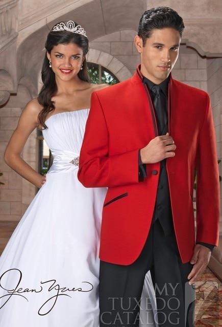 mens wedding suits 2013 men red illusion tuxedo slim