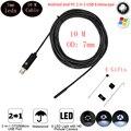 6 LEDs 7 MM OTG USB Cobra Câmera Endoscópio IP67 À Prova D' Água Tubo de inspeção Endoscópio Tubo USB MINI Câmera Com 10 M Rígida cabo