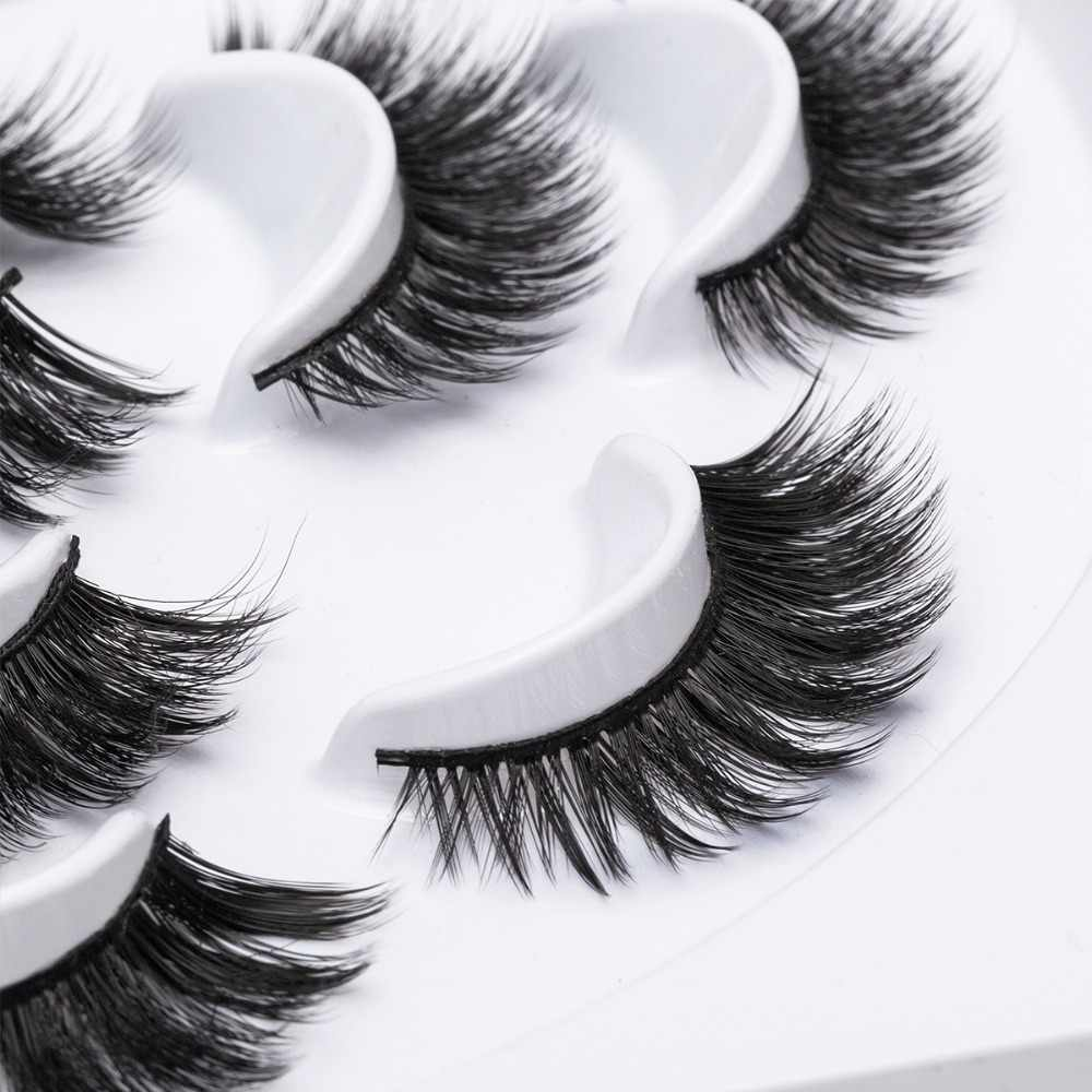 b6678d2ed2d ... 7 Pairs Natural False Eyelashes Hand Made Fake Lashes Long Makeup  Popular 3d Lashes Eyelash Extension ...