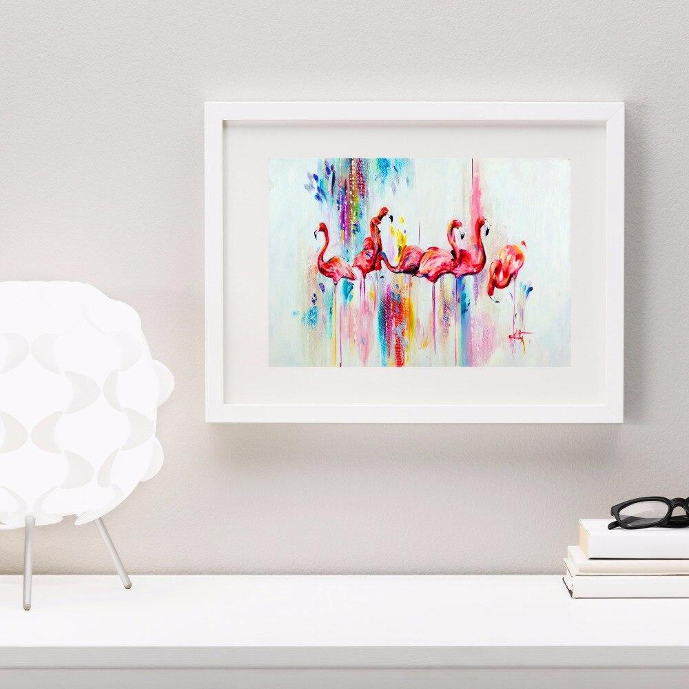 수채화 플라밍고 작품 캔버스 아트 인쇄 포스터 벽 방 홈 장식 침실 장식 프레임
