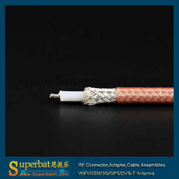 imágenes para Superbat 10 pies Harbour Industrias RG400 M17/128-RG400 RF de Doble Blindaje del cable Coaxial