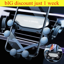Soporte Universal para teléfono de coche Gravity, soporte de ventilación de coche para IPhone 8 X XS Max Samsung S8 S9