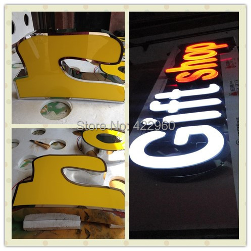 Factoy Outlet Outdoor Acrylic Front Light LED Alphabet Letter