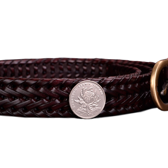 Women's Braided Leather Belt For Jeans Width 2.5cm