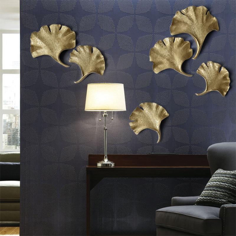 Us 2319 20 Offkawiarnia Restauracja Salon Dekoracje ścienne 3d Sypialnia Zrezygnować Ginkgo Liści Diy Dekoracyjna Naklejka Wiszące Na ścianie W