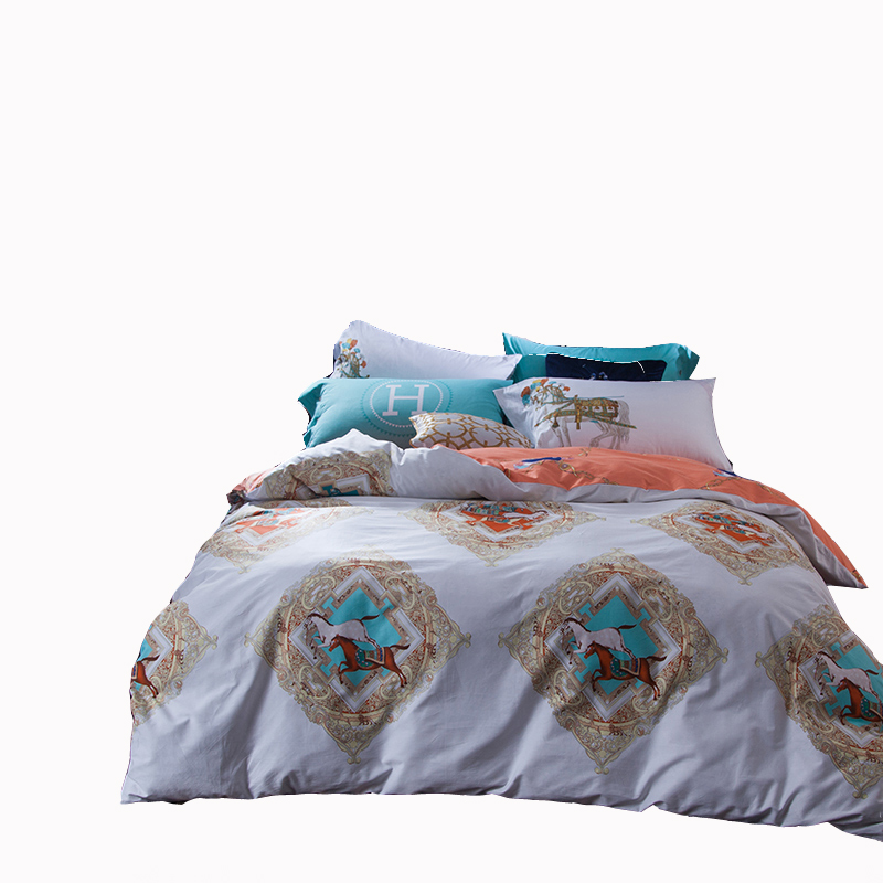 Online get cheap cheval courtepointes for Taille housse de couette