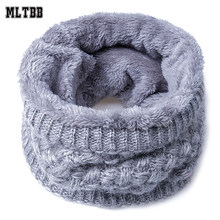 MLTBB Fashion Winter Scarf For Women Men Warm Children Scarves Wool Collar Baby Scarf Boys Girls Cotton Neck Scarf Thickened(China)