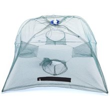 Telescopic Automatic Fishing Net Shrimp Cage Nylon Foldable Crab FishNet Trap Minnow Cast Net Small Mesh Cast Fishing Network