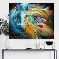 Hand Painted Wall Art Decoration Famous Horse Antique Reproduction Oil Painting For Living Room