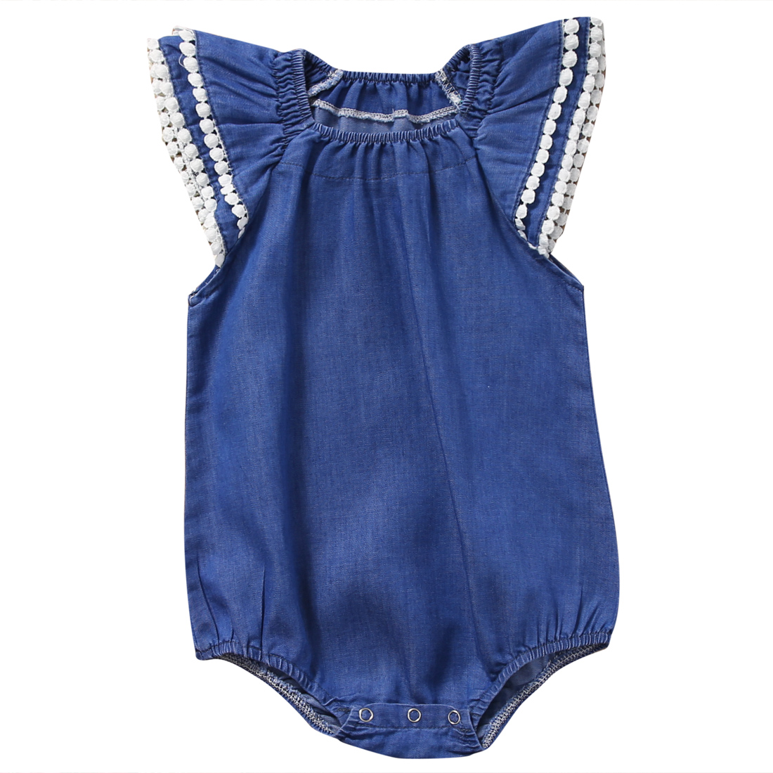 ÚJ érkezések Toddler Kids Baby Girls csecsemő Denim Dodysuit - Bébi ruházat