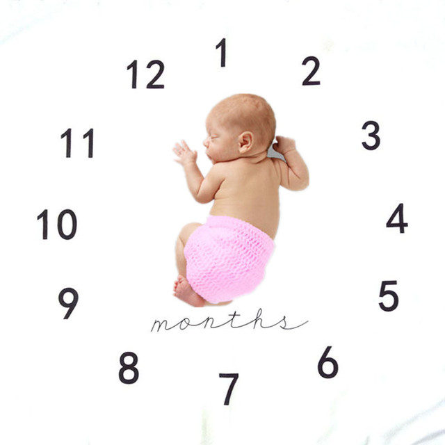100*100 cm impreso recién nacido fotografía Fondo manta crecimiento ...