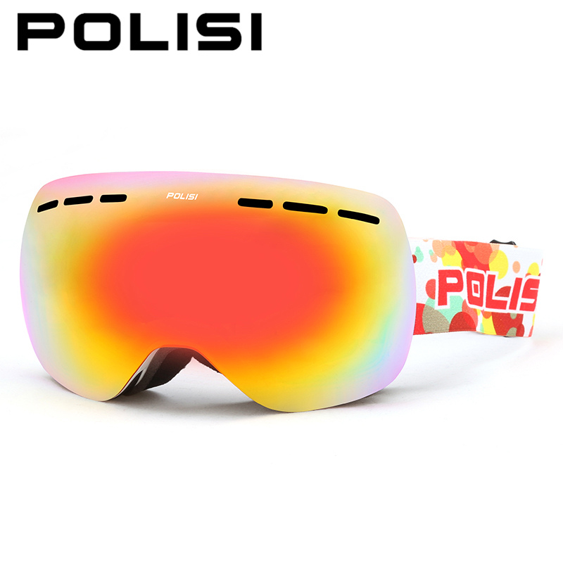 POLISI Men Women Snowboard Ski Goggles Double Layer Anti-Fog Lens Snow Glasses UV400 Winter Skiing Snowmobile Protective Eyewear цена 2016