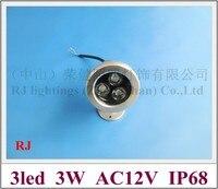 High power 3 Watt LED unterwasserlicht lampe FÜHRTE pool licht brunnen licht AC12V 3 Watt IP68 kostenloser versand
