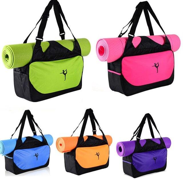 297c25720f Pocket Yoga Mat Bag Waterproof Exercise Gym Handbag Tote Holder Fitness  Sport