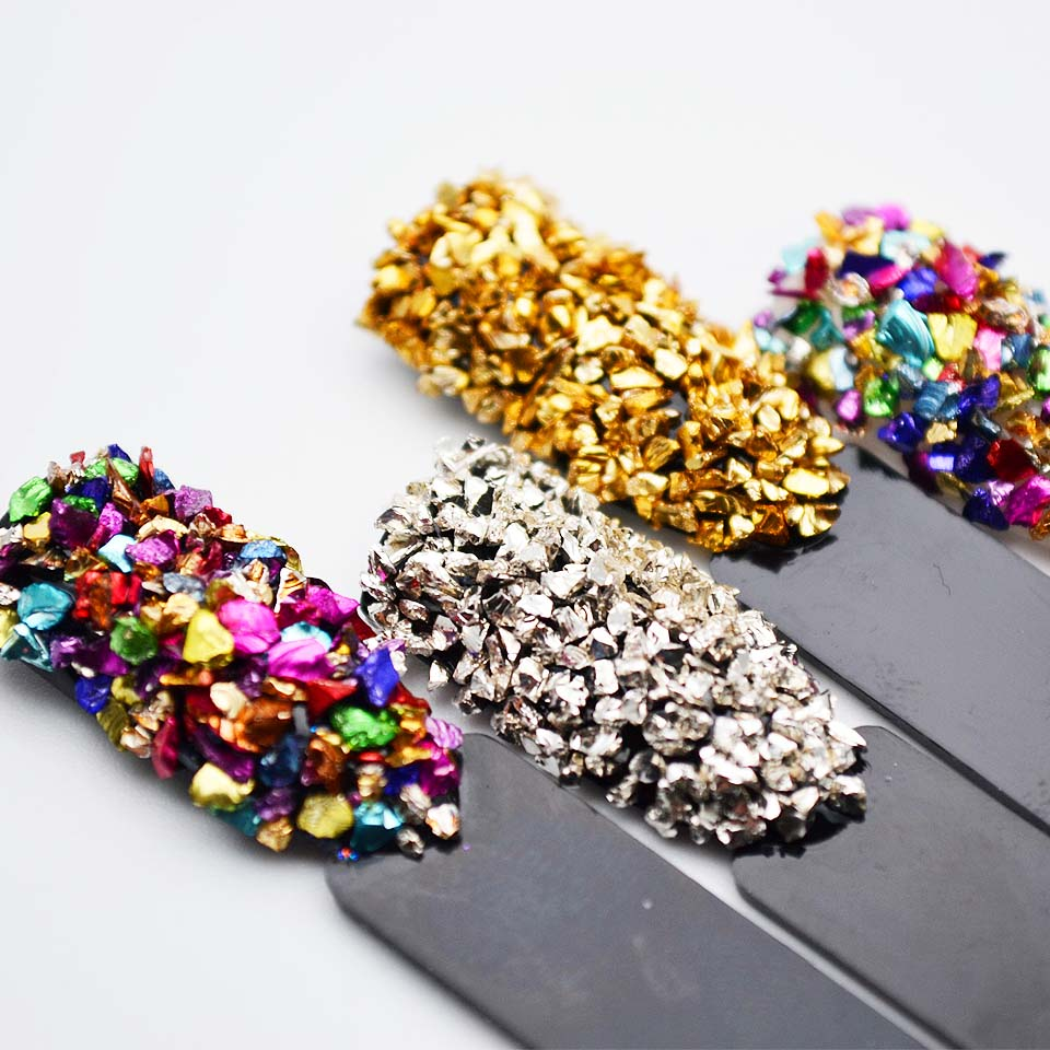 Broken Glass strassit kynsiä varten Gems Kynsitekniikka strassit - Kynsitaide