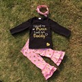 2-7t FALL/Winter kids OUTFITS 2 pieces I CALL HIM DADDY print long sleeves gold dot pants boutique girls clothes sets