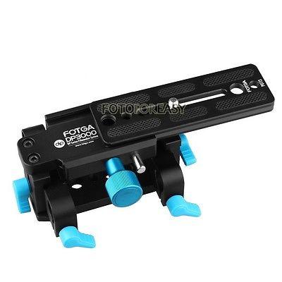 FOTGA Tripod Mount 15mm Rod Support QR Base Plate for DSLR HDV Rig Follow Focus fotga dp500iii 15mm to 19mm rail rod clamp adapter for dslr qr follow focus rig f21812