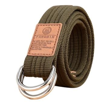Hot Men Canvas Belt Military Equipment Cinturon Western Strap Men's Belts D-ring Buckle Belt for leisure business