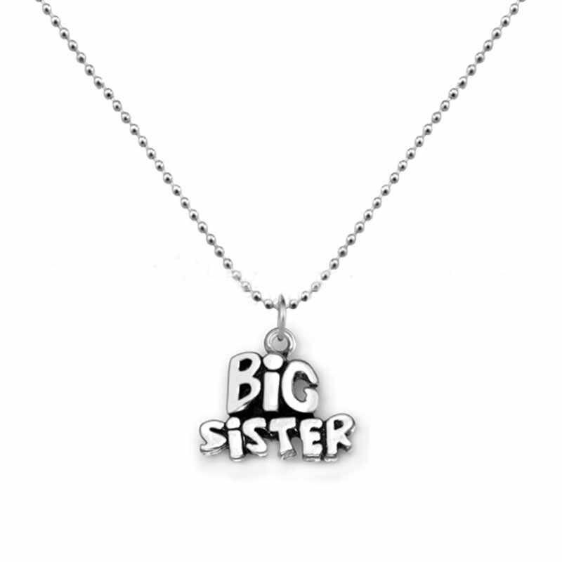 Joyería de moda familia colgante collar hermana madre hija papá abuela familia BFF amor corazón collares rompecabezas cuadrado regalo