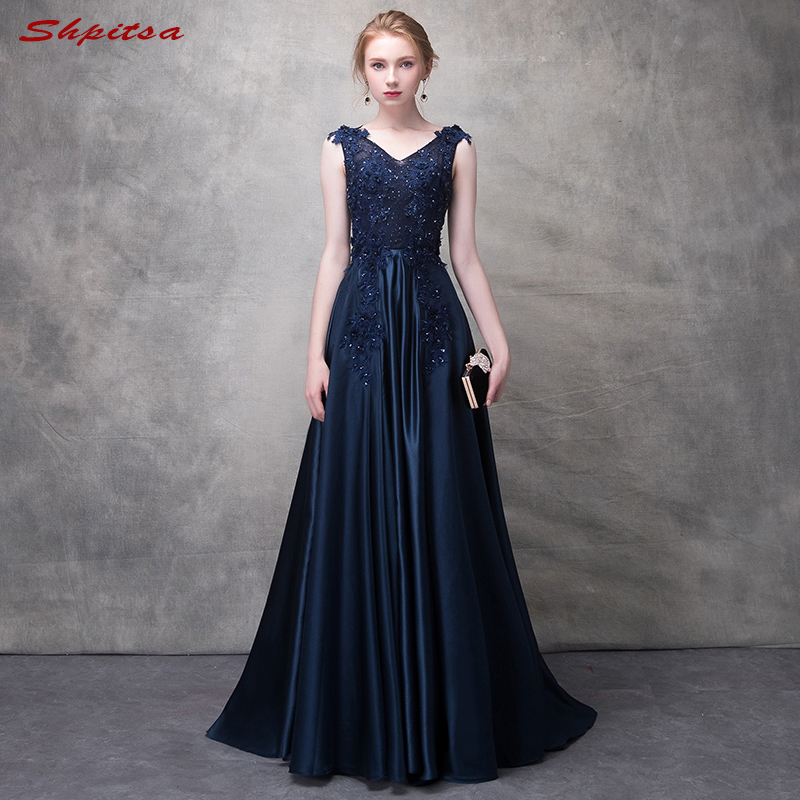 Navy Blue Lace Mother Of The Bride Dresses For Weddings A Line Evening Groom Godmother Dresses
