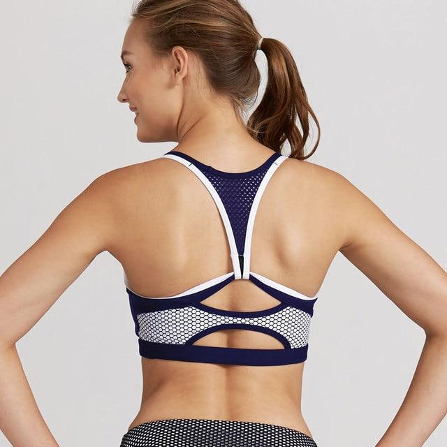 09f281ba09168 Sexy Back Push Up Sport Bras Women Padded Gym Fitness Bra Plus Size  Wireless Underwear Shockproof