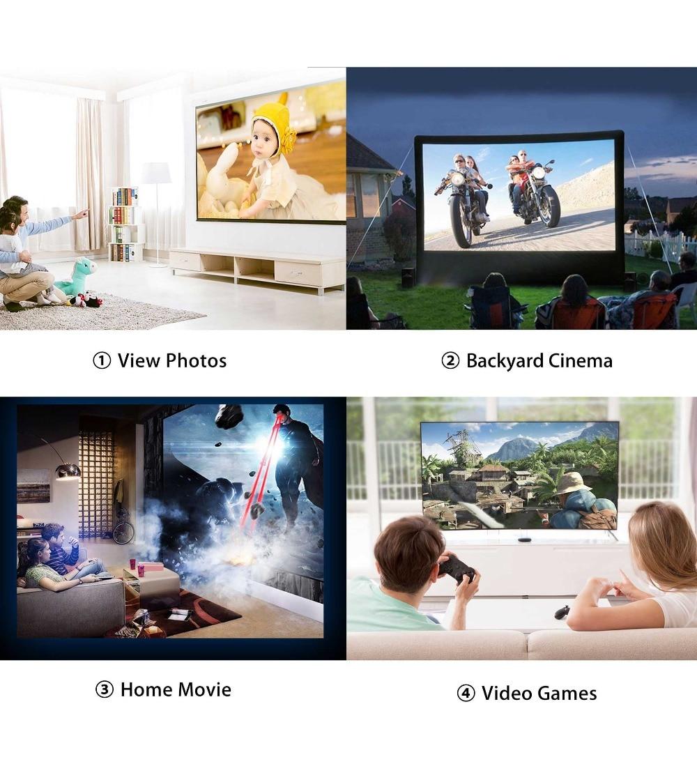 Vivicine V8 V8 Pro Mini LED Projector,800x480p Home Theater HDMI USB VGA WIFI Video Game Proyector Beamer (3)
