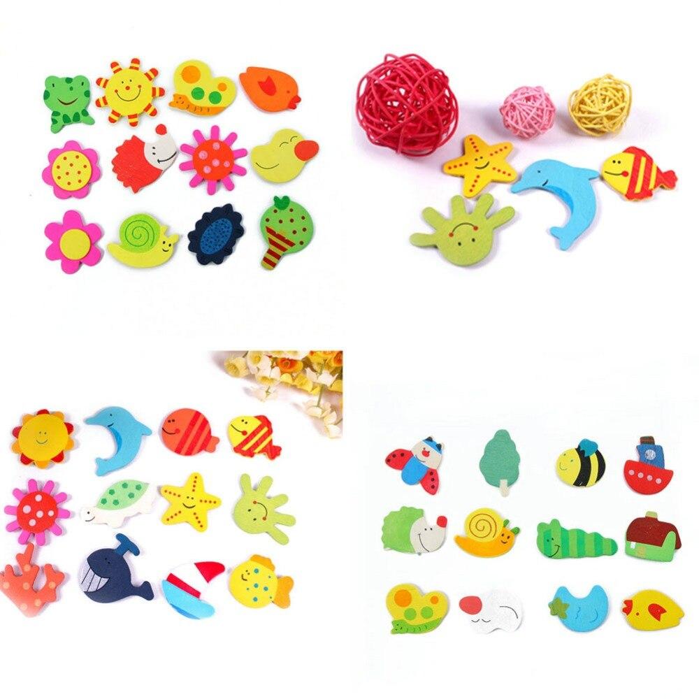 Новый 12 шт. Красочные Дети Детские Дерево мультфильм игрушка магнит на холодильник для ребенка детские развивающие Игрушечные лошадки