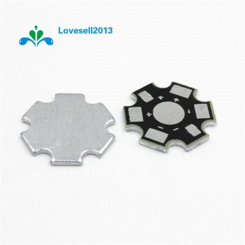10PCS 20MM 1W 3W 5W High Power LED Universal Aluminum Plate Heat Sink Black
