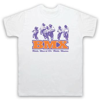 Bmx Ride Hard or Ride Home Bike Riding Rider Track Dirt Mens más nuevo 2019 verano manga corta impreso hombres camiseta personalizada