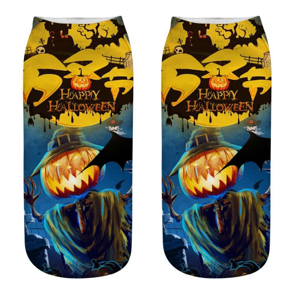 10 ペア/ロット新着ハロウィン靴下女性 3D プリントハロウィンカボチャクリエーター送料魔女クールポリエステルノベルティ靴下