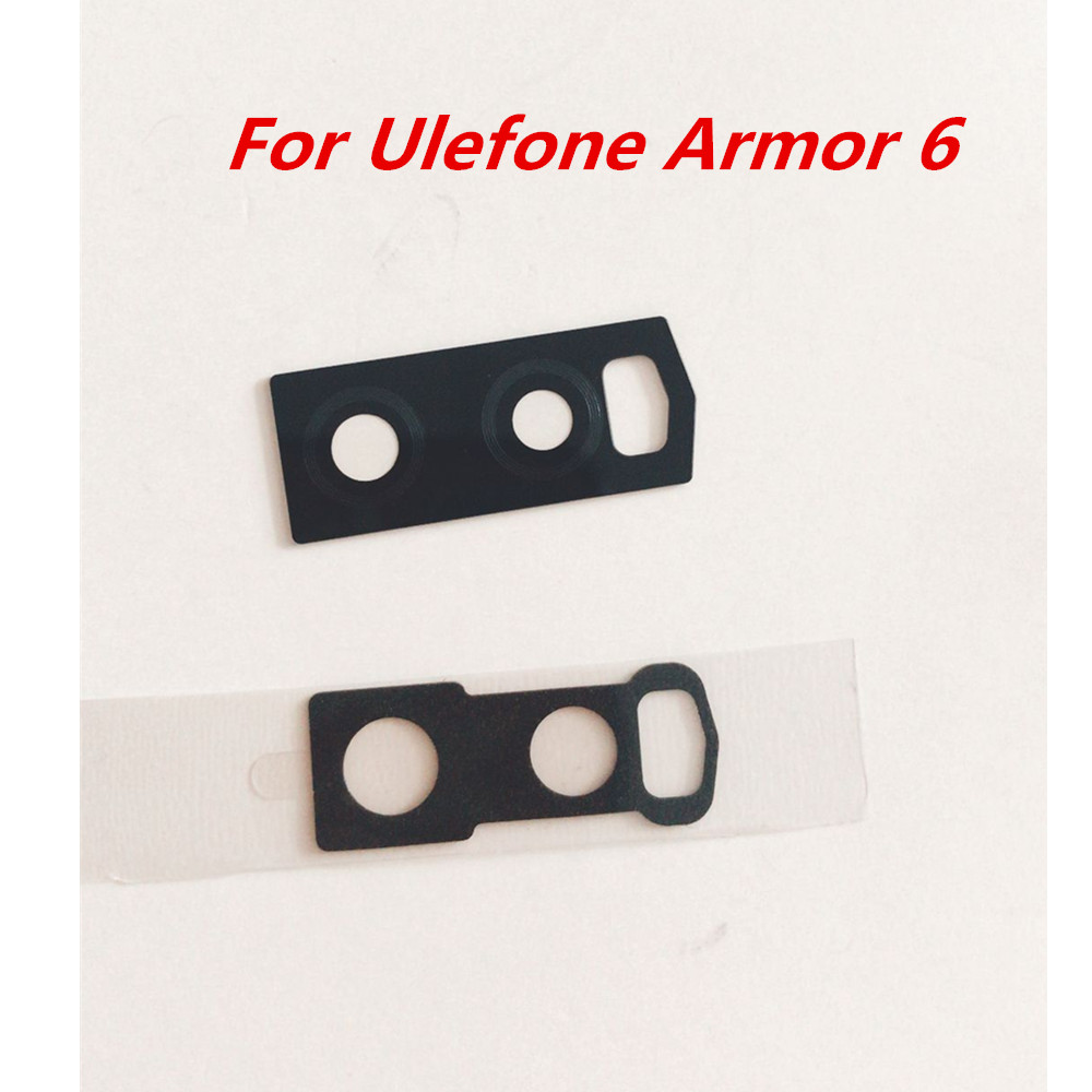 New Original For Ulefone Armor 6 6.2'' Phone Rear Back Camera Lens Glass Spare Part Screen Protective For Ulefone Armor 6(China)