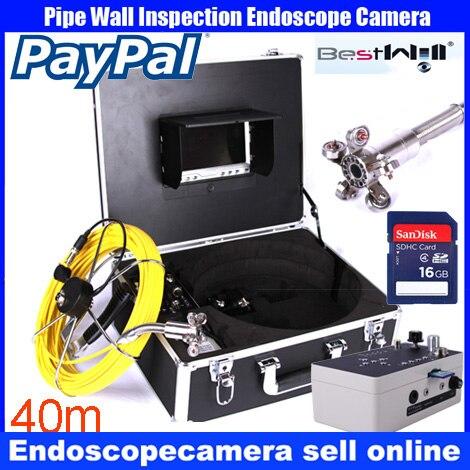 40 m DVR Paroi du Tuyau D'égout Caméra D'inspection Système, Industrielle Tuyau Voiture Vidéo D'inspection Endoscope Caméra