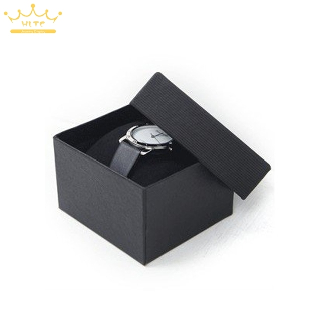 Free shipping 30PCS High Quality NEW Paper Watch Wrist watch Gift packing boxes with Pillow Black Watch Display