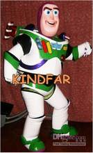 Venda quente Bonito Adulto Toy Story Buzz Lightyear Mascot Costume Adult Character Fancy Dress Desenhos Animados Outfit Suit(China)
