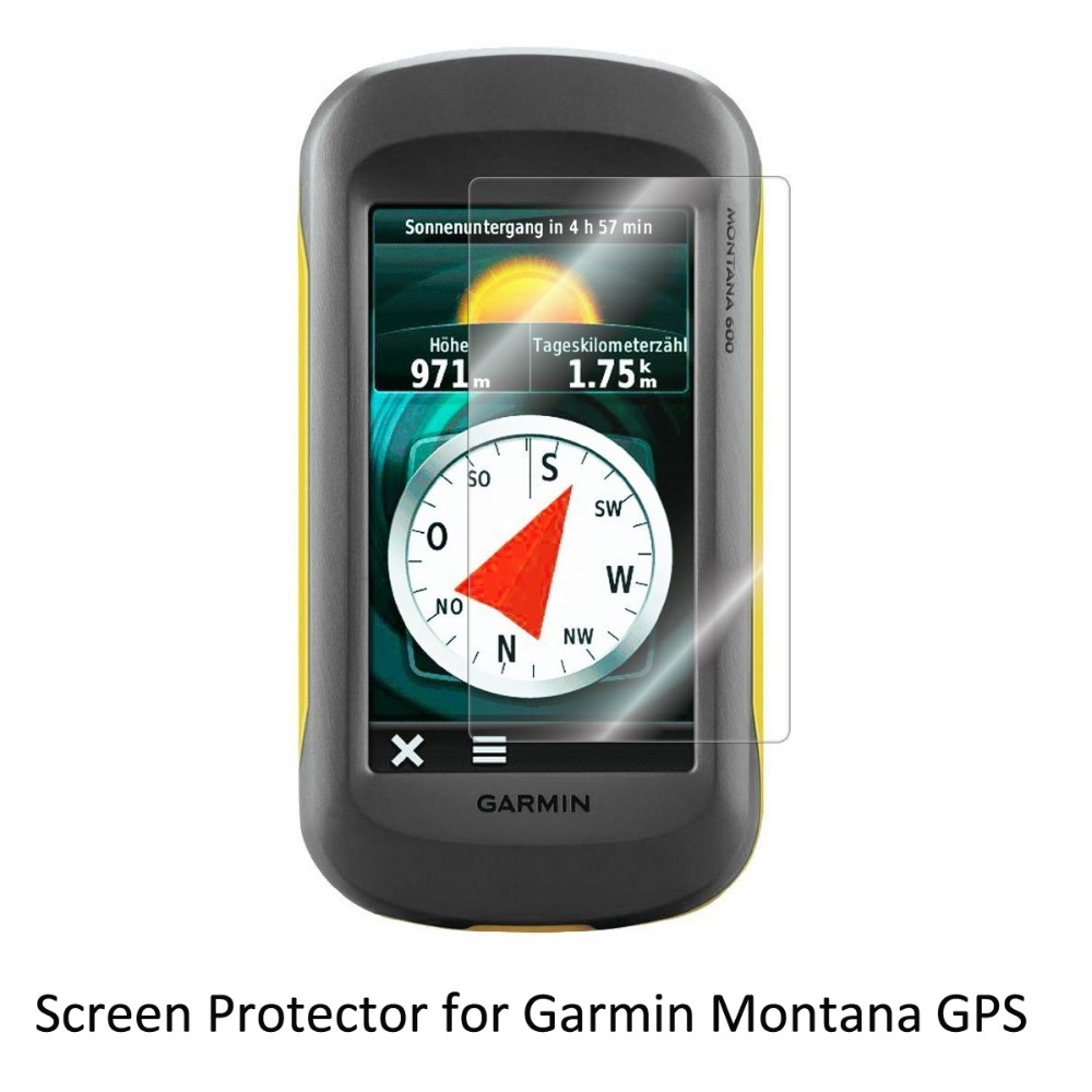 3 Clear LCD PET Film Anti Scratch Screen Protector Cover for Handheld GPS Navigator Garmin Montana