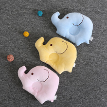 Cartoon Elephant Baby Pillow Anti Flat Head Shaping Infant Protection Cushion Concave Neck Support