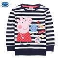 Novatx f4289 baby girls camisetas de rayas venta caliente 2-6 t nova niños usan ropa de moda popular modelos chicas camisetas