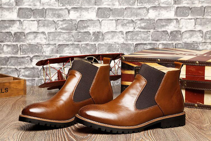 YIGER Men's Chelsea Boots 13