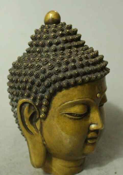 Raised Brass big buddha head statue shipping free