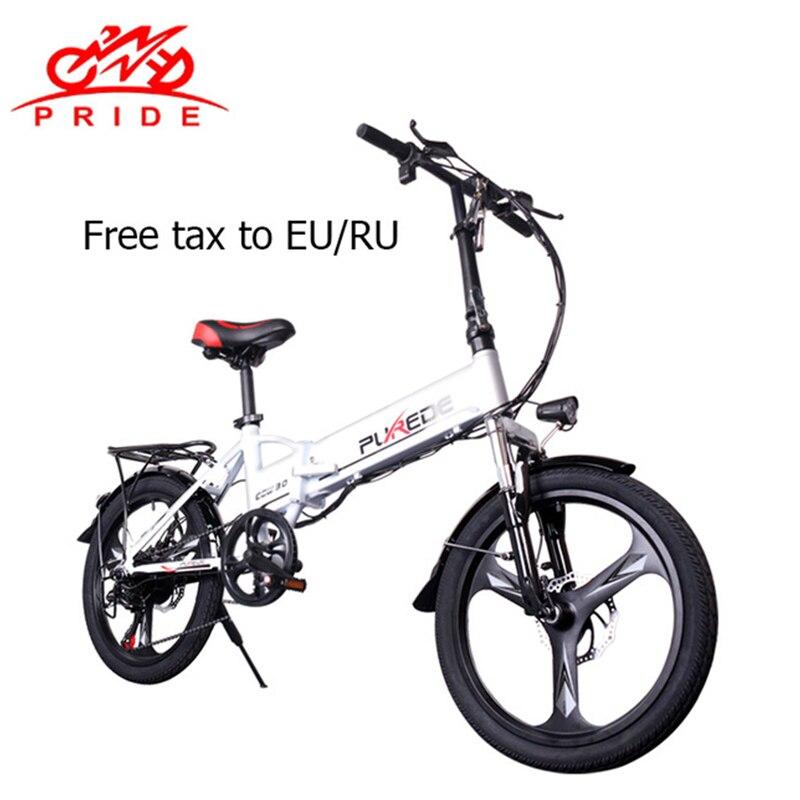 Electric Bike 48V12 5A Lithium Battery 20inch Aluminum Folding Electric Bicycle 350W Powerful Mountain e bike