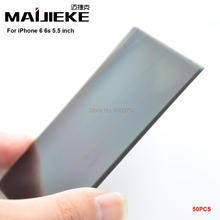 """MAIJIEKE A + Lcd Polarizzatore pellicola di Polarizzazione per il iphone 8 7 6 s 6 Più 5.5 """"Pellicola Polarizzante 50 Pz/lotto Spedizione Gratuita"""