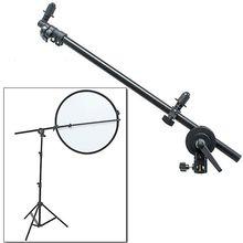 Держатель для фотостудии PRO, кронштейн с поворотной головкой и отражателем, поддержка 24 66 дюймов