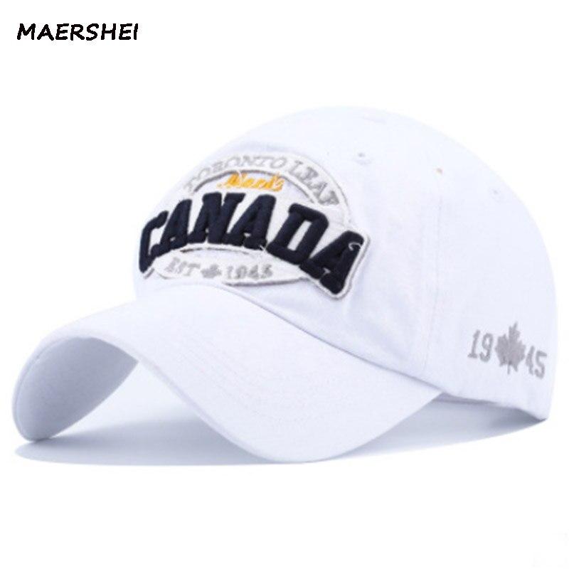 MAERSHEI algodón gorra de béisbol hombres Snapback Gorras Casquette Canadá bordado  hombres mujeres Hip hop Gorras marca 2018 nueva Cap en Gorras de béisbol ... 945bb802995