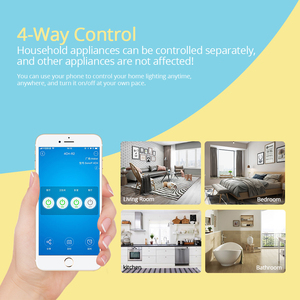 Image 4 - Sonoff 4CH R2 Wireless Multi channel WIFI Switch Independent Remote Control Smart House Home Automation Module Controller 220V