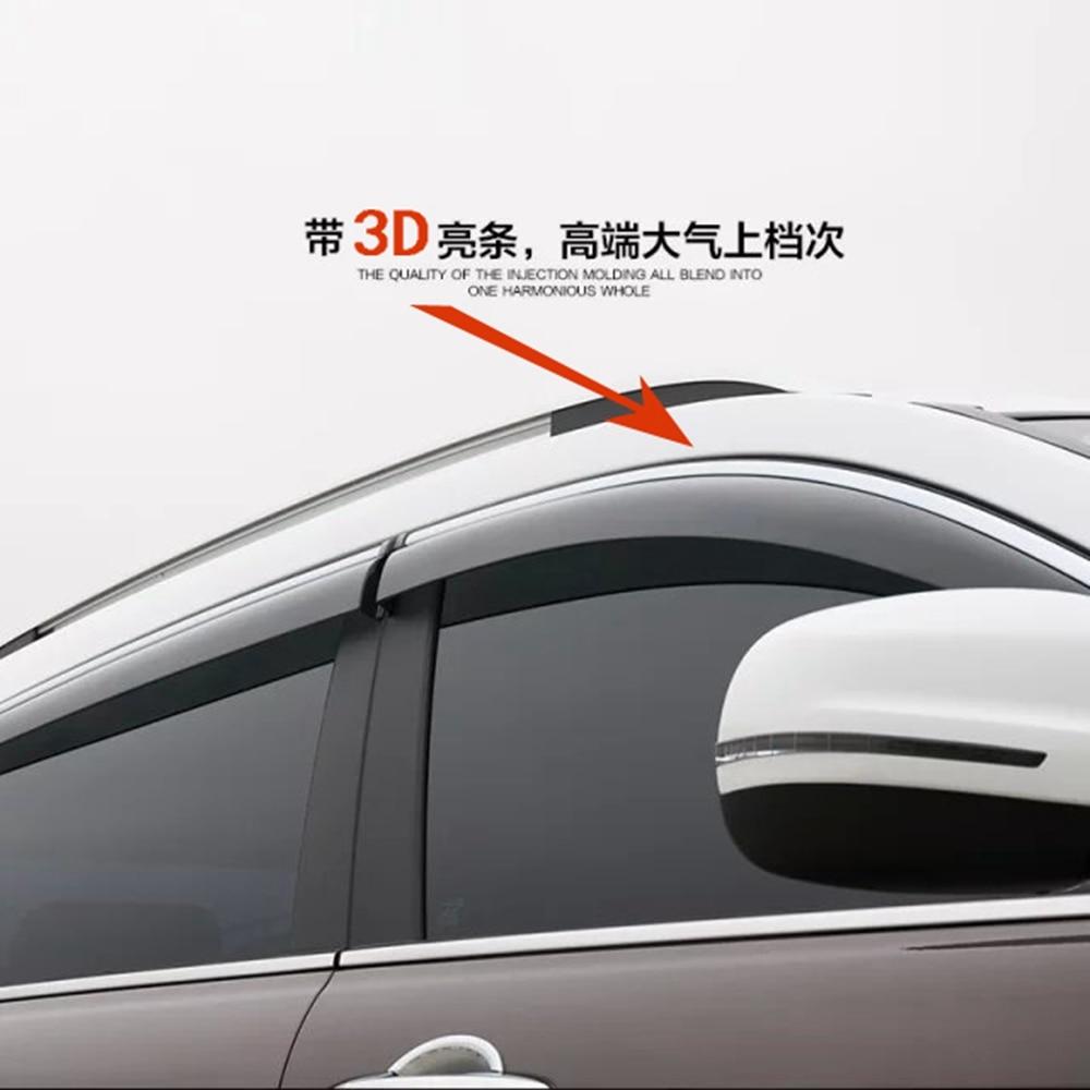 Smoke Window Sun Vent Visor Rain Guards 4Pcs set For Chevrolet Captiva 07-15
