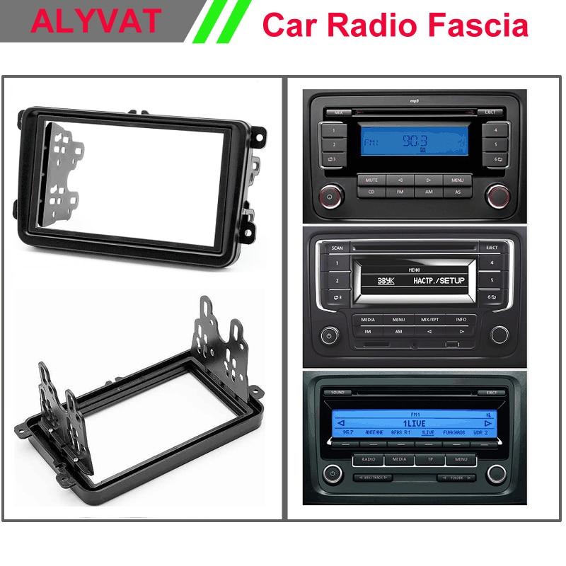Car Radio DVD CD Fascia Frame Pane for VW VOLKSWAGEN Caddy/SEAT/SKODA Fabia;Octavia Stereo Facia Trim Installation Kit