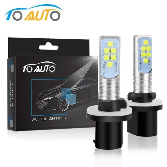 2pcs Car Fog Lamp H27 880 881 LED P13W PSX26W LED Bulbs H27/1 H27/2 1600LM White Car Lights Auto Lamp DC 12V 24V 6000K