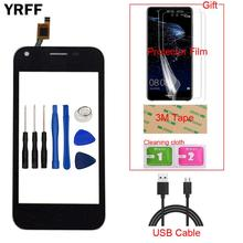 Tela touchscreen 4.0 móvel para zte blade l110 l 110, tela de toque digitador painel de vidro frontal sensor de lente ferramentas de presente